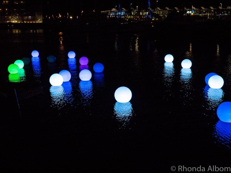 Water Fun at Bright Nights a light festival in Auckland New Zealand