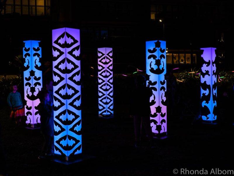 Maori light posts in Auckland New Zealand