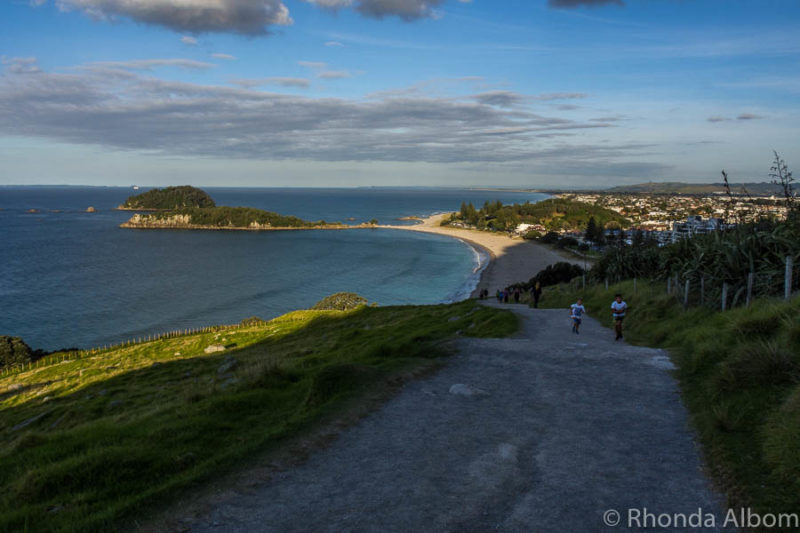 Climbing mount Maunganui is one of the many things to do in the bay of plenty