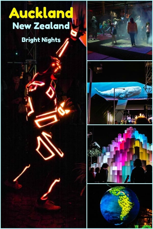 Bright Nights, a vivid and exciting light festival in Auckland New Zealand and a great opportunity to share night photography tips. #travel #Auckland #NewZealand #photographytips #nightphotography