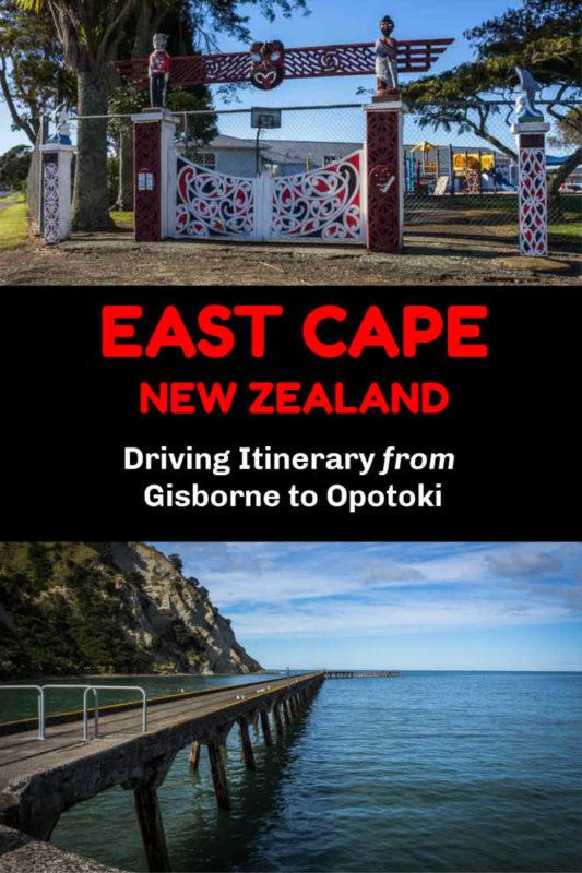 Highlights seen along an East Cape NZ road trip itinerary