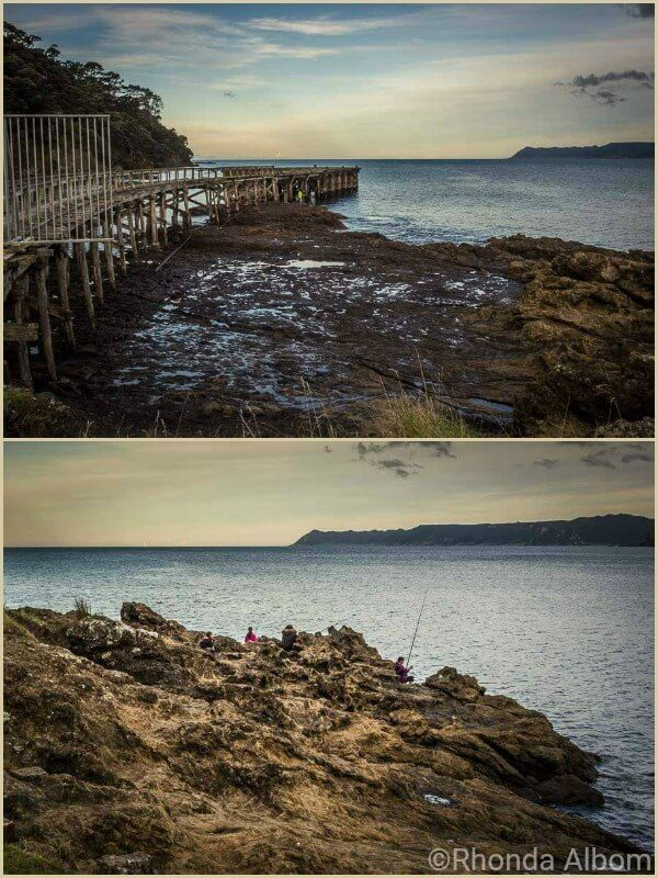 Hicks Bay Wharf along the coastal road of East Cape NZ