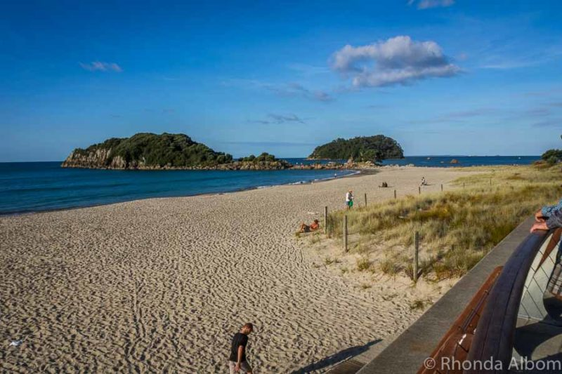 Main beach in Mount Maunganui New Zealand