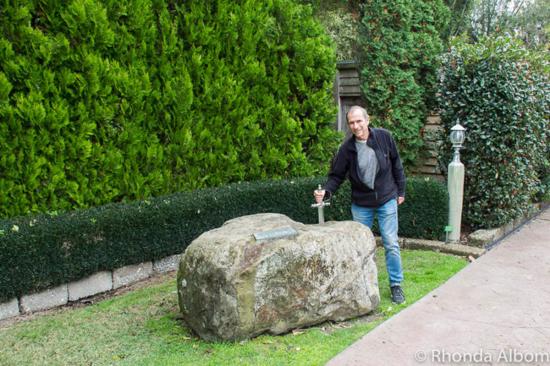 Sword and stone in New Zealand