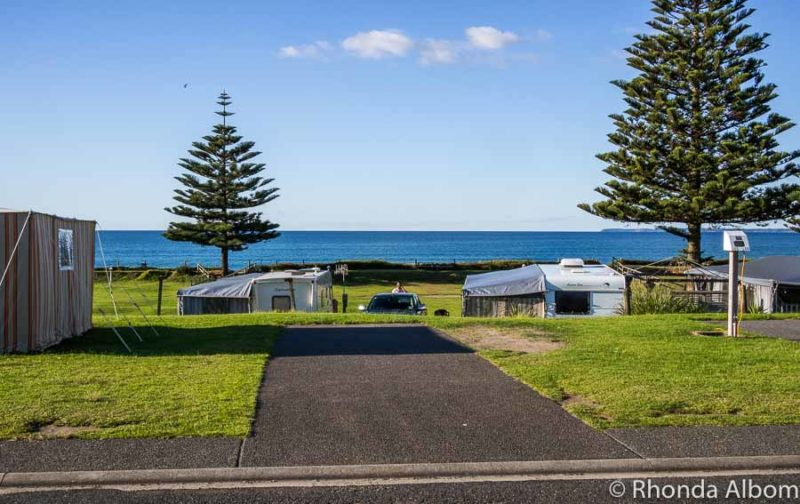 Campsites at Papamoa Beach Resort, Bay of Plenty New Zealand