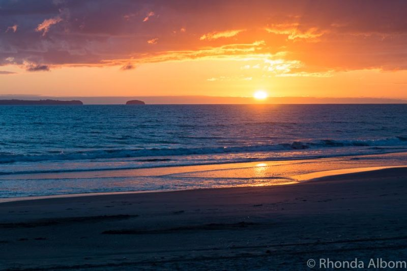 Sunrise at Papamoa Beach Resort, Bay of Plenty New Zealand