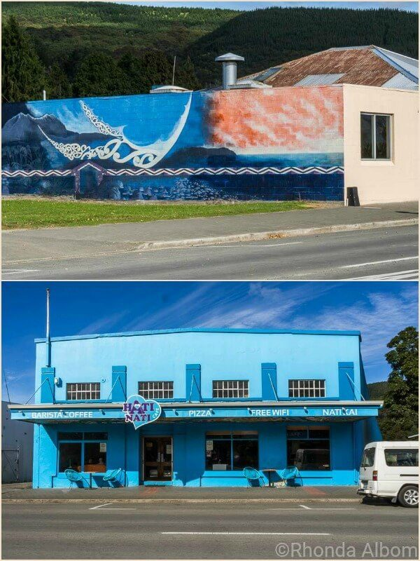 Hati Nati Cafe and street art in Ruatoria New Zealand