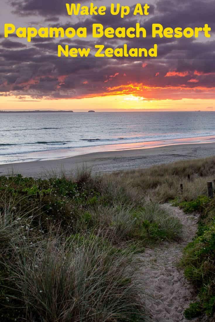 Explore the Bay of Plenty in New Zealand with the Papamoa Beach Resort as a base. #travel #NewZealand #BayofPlenty #Tauranga #beach #oceanview #sunrise #sunset