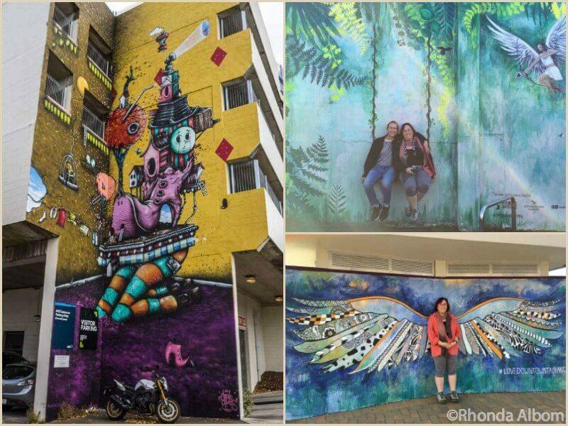 Interactive street art in Tauranga New Zealand
