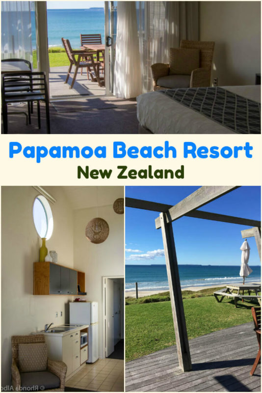 Beach front villa at Papamoa Beach Resort