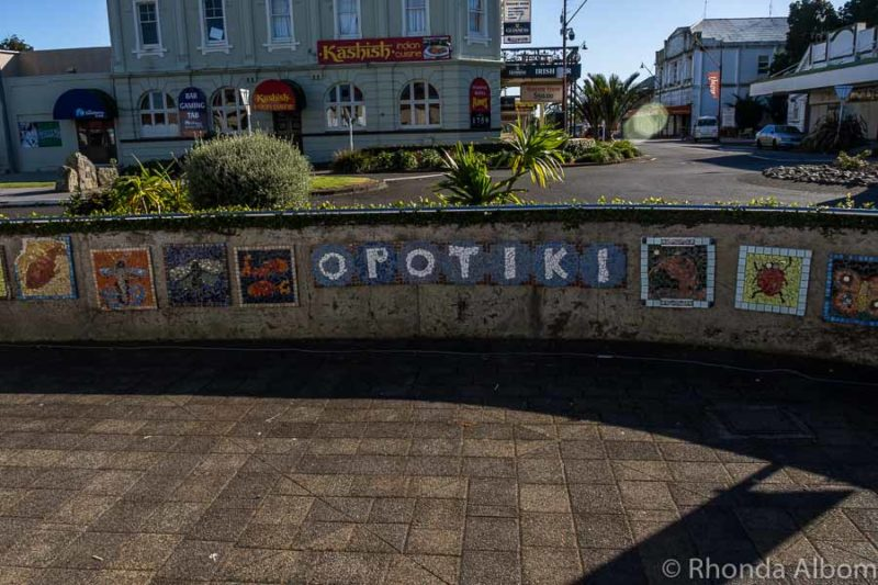 Main Square in Opotiki New Zealand