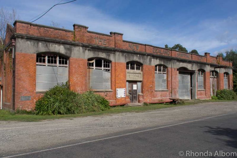 Old freezing works in Tokomaru Bay, a stop on our drive through the East Cape from Gisborne to Opotiki in New Zealand