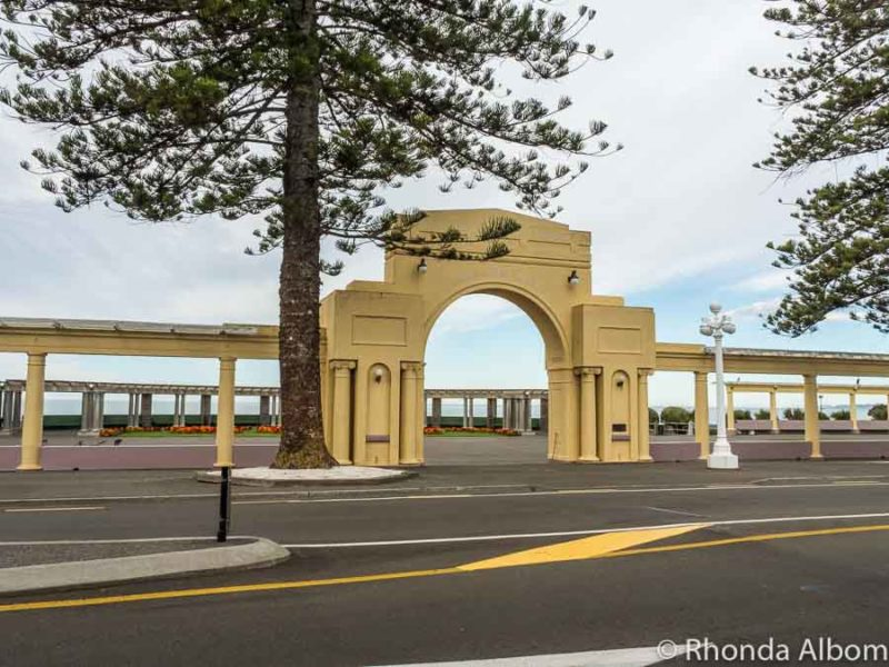 Marine Parade Arch in Napier New Zealand