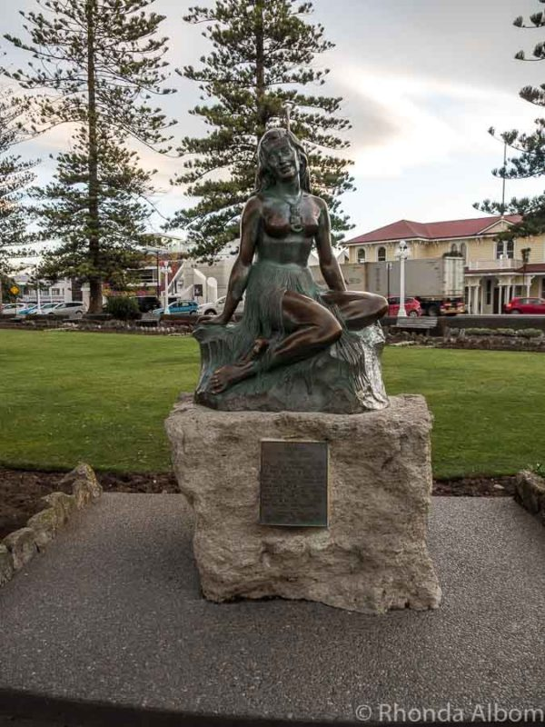 Pania on the Reef statue along Marine Parade in Napier New Zealand