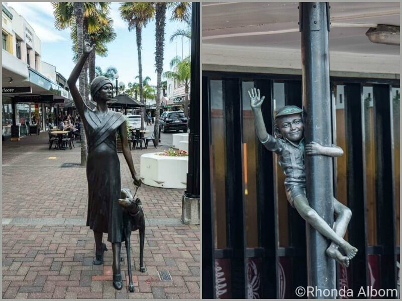 Art deco bronze figures in Napier New Zealand