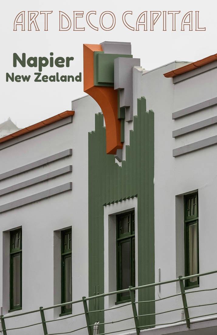 Napier New Zealand is the Art Deco Capital of the World. #travel #NewZealand #Napier #HawkesBay #artdeco #artwork #architecture