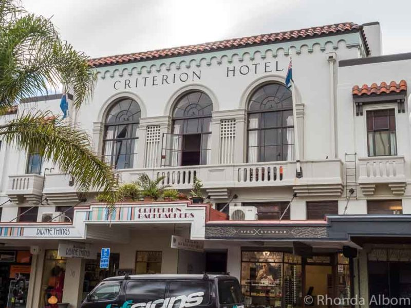 Criterion Hotel a Napier art deco hotel in New Zealand