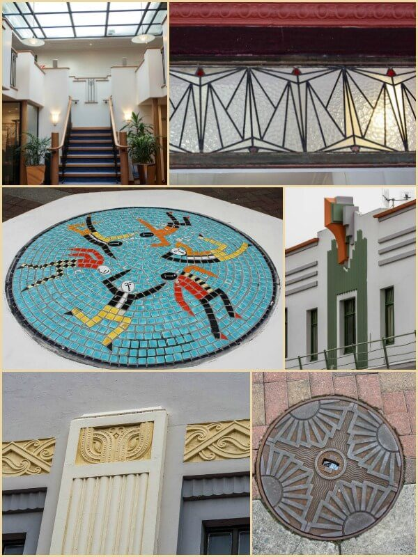 Art Deco Features seen in Napier New Zealand