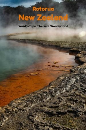 Vivid colors add to the mystic of Waiotapu Thermal Wonderland in Rotorua New Zealand