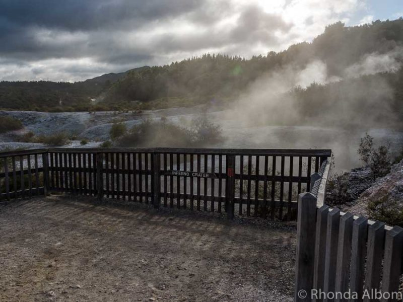 Inferno Crater at Wai-O-Tapu, Rotorua New Zealand