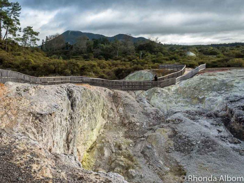 Sulfer Cave at Wai-O-Tapu, Rotorua New Zealand
