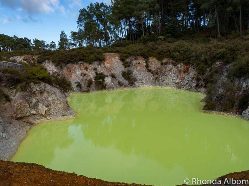 Devil's Bath at Wai-O-Tapu, Rotorua New Zealand