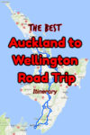 Auckland to Wellington Road Trip Route