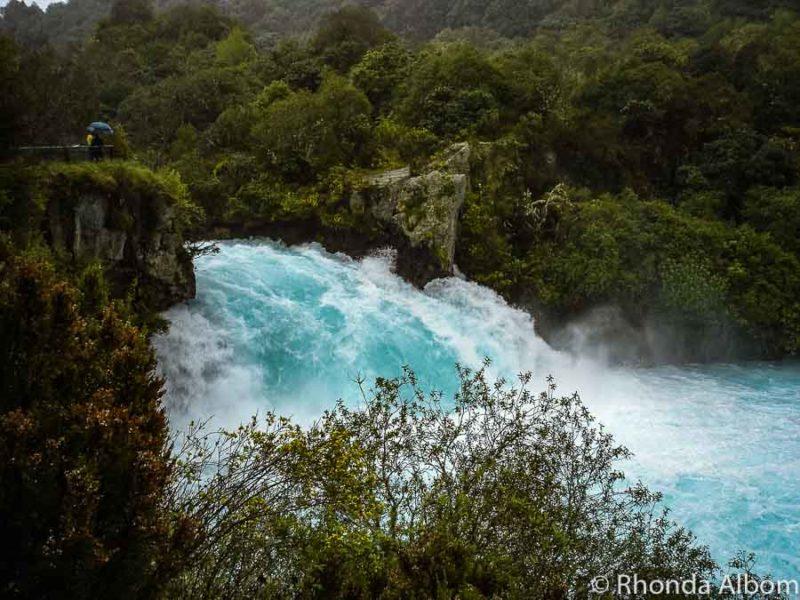 Huka Falls in Lake Taupo, New Zealand