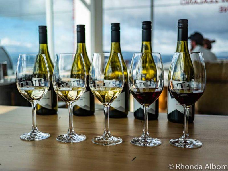 Wine tasting at Volcanic Hills Winery, Rotorua New Zealand