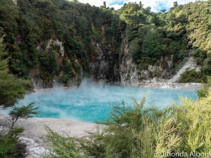 Inferno Crater Lake at Waimangu Volcanic Valley, Rotorua New Zealand