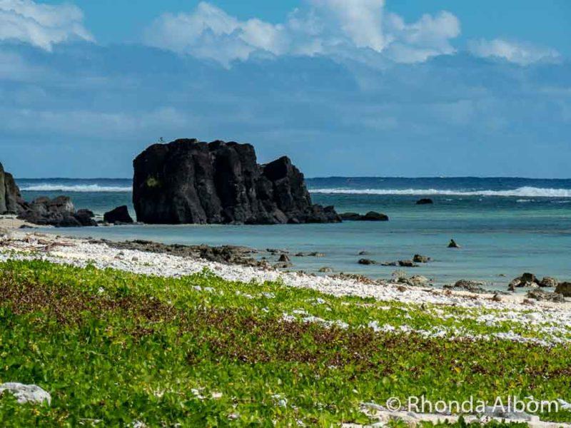 Black Rock Beach in Rarotonga, Cook Islands