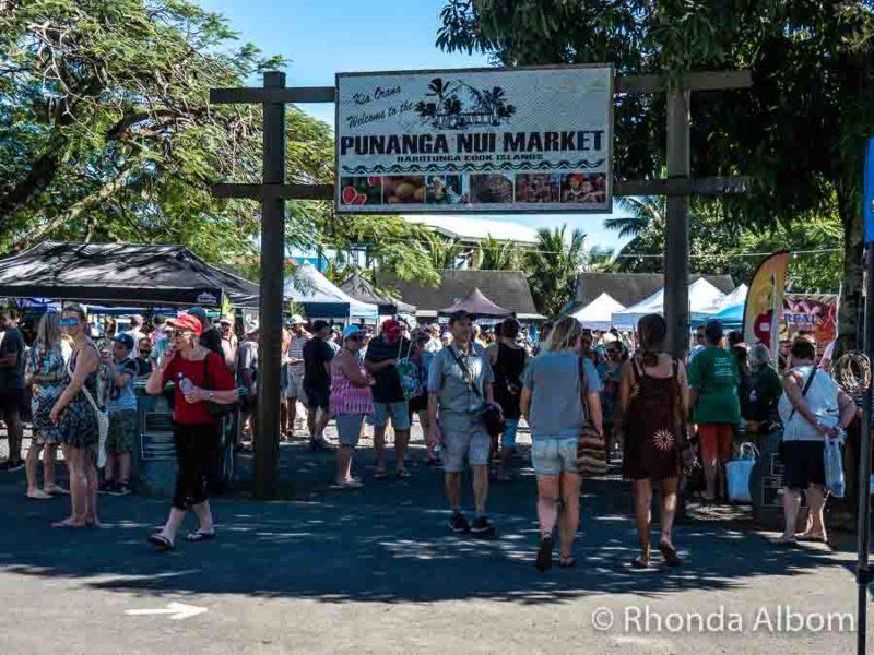 Punanga Nui Market in Avarua, Rarotonga, Cook Islands