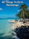 Beach view near The Rarotongan Beach Resort in Rarotonga Cook Islands