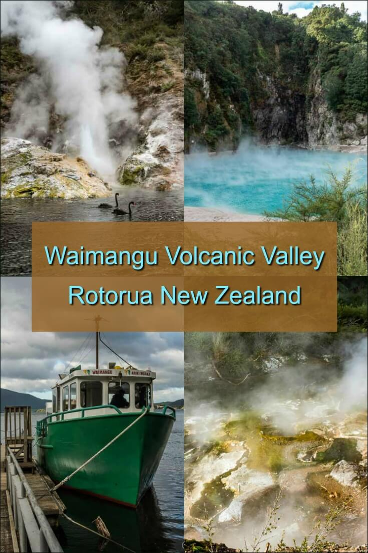 Waimangu Volcanic Valley is an untouched and ever-changing landscape created with the eruption of Mt Tarawera in 1886 (New Zealand's largest recorded volcanic eruption). It created lakes, changed the landscape, covered the famous Pink and White Terraces, and left a clean slate for nature to rebuild. #travel #newzealand #rotorua #waimangu #geothermal #volcano #Pinkandwhiteterraces