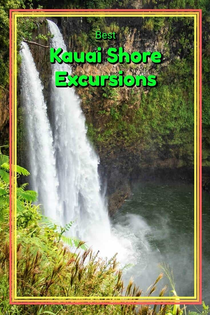 Arriving via cruise ship to Kauai in Hawaii? Here is a list of the island highlights along with some recommended shore excursions. #travel #hawaii #kauai #cruiseport #cruiseship #waterfalls #tropicalparadise #pacificislands #USA