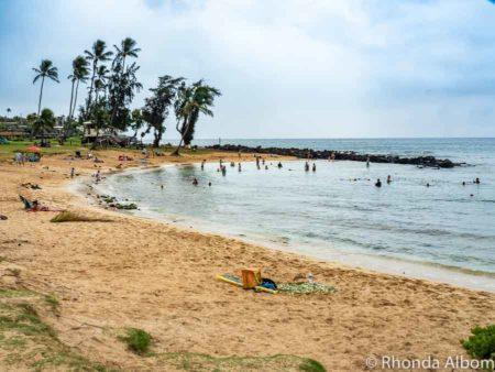 Poipu Beach on Kauai Hawaii