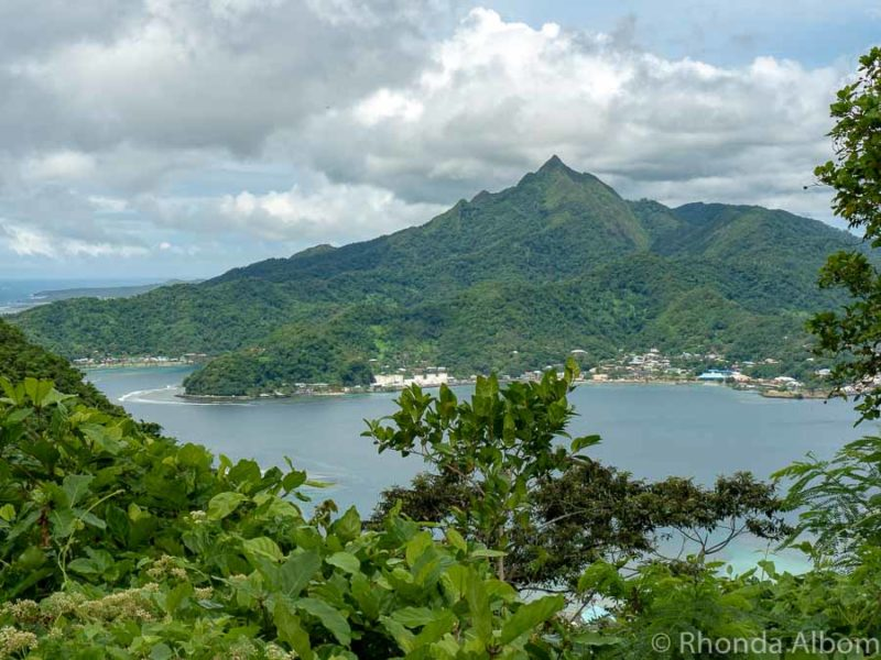 Mt Matafao is the highest Peak on Tutuila Island in American Samoa