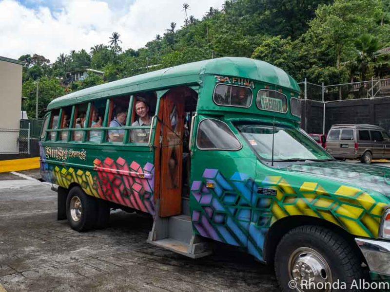 Typical bus in American Samoa