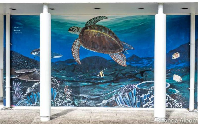 Wyland murual outside Tauese P.F. Sunia Ocean Center in Pago Pago American Samoa