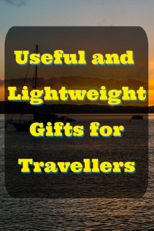 Useful and lightweight gifts for travellers