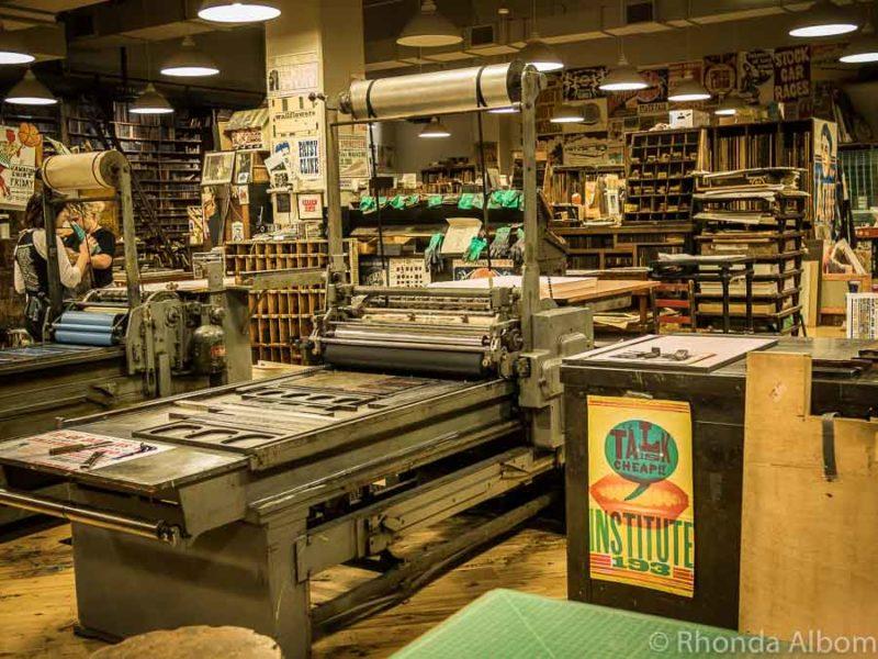 Hatch Show Print in Nashville Tennessee