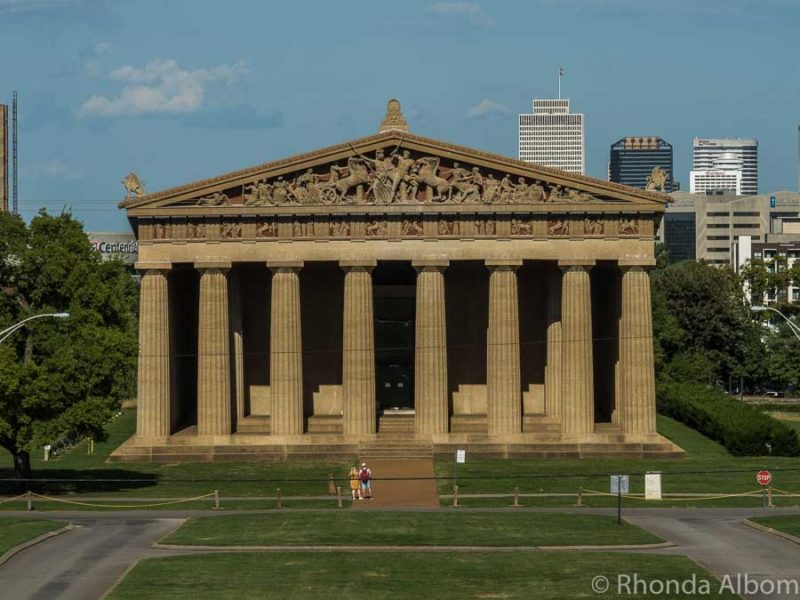 Exact replica of the Parthenon of Athens, located in Nashville Tennessee