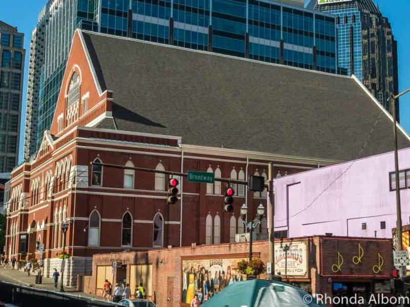Ryman auditorium in Nashville Tennessee