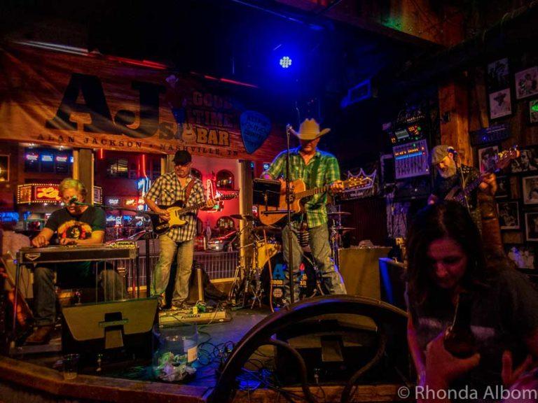 Inside Alan Jackson's Bar on Broadway in Nashville Tennessee