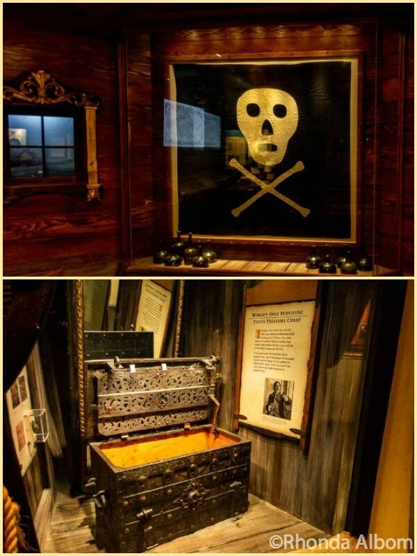 Original Jolly Roger flag at St Augustine Pirate and Treasure Museum