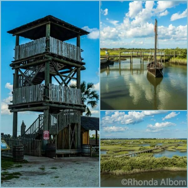 Lookout tower at Ponce de Leon Fountain of Youth Archaeological Park in St Augustine Florida