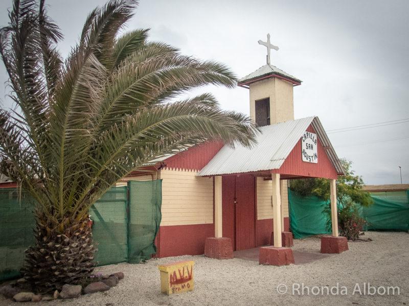 The church in Punta de Choros, Chile