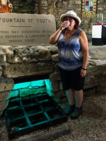 Drinking from the fountain of youth in St Augustine Florida