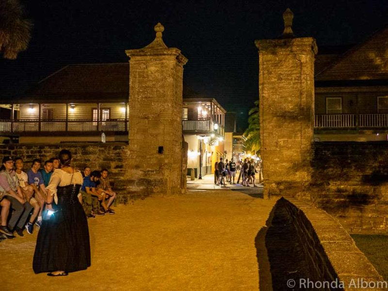 The ghost of Elizabeth often stands at the city gate to St Augustine Florida
