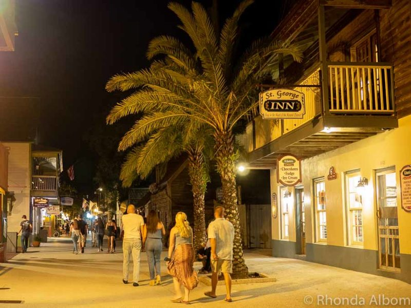 Historic district in St Augustine Florida